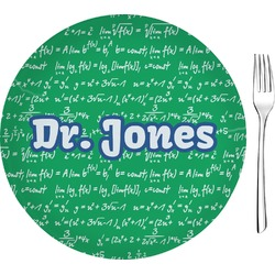 """Equations 8"""" Glass Appetizer / Dessert Plates - Single or Set (Personalized)"""