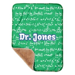 """Equations Sherpa Baby Blanket 30"""" x 40"""" (Personalized)"""