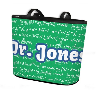 Equations Bucket Tote w/ Genuine Leather Trim (Personalized)