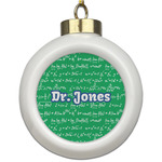 Equations Ceramic Ball Ornament (Personalized)