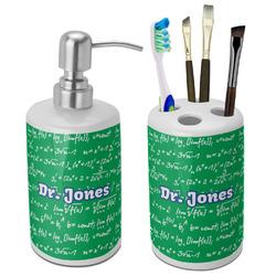 Equations Bathroom Accessories Set (Ceramic) (Personalized)