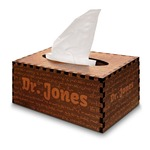 Equations Wooden Tissue Box Cover - Rectangle (Personalized)