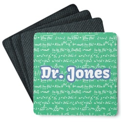 Equations 4 Square Coasters - Rubber Backed (Personalized)