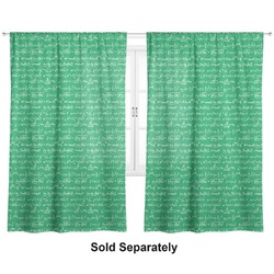 "Equations Curtains - 20""x84"" Panels - Lined (2 Panels Per Set) (Personalized)"