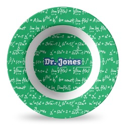 Equations Plastic Bowl - Microwave Safe - Composite Polymer (Personalized)