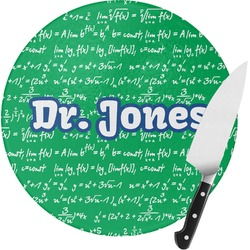 Equations Round Glass Cutting Board (Personalized)