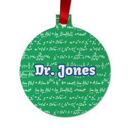 Equations Metal Ball Ornament - Double Sided w/ Name or Text