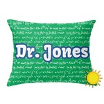 Equations Outdoor Throw Pillow (Rectangular) (Personalized)