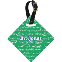 Equations Diamond Luggage Tag (Personalized)