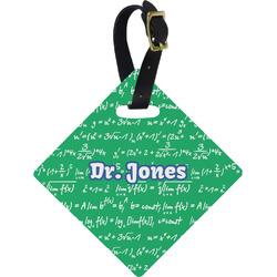 Equations Diamond Luggage Tag (Personalized)