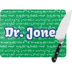 Equations Rectangular Glass Cutting Board (Personalized)