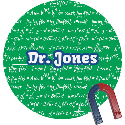 Equations Round Magnet (Personalized)