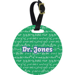 Equations Round Luggage Tag (Personalized)