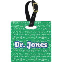 Equations Square Luggage Tag (Personalized)