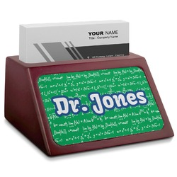 Equations Red Mahogany Business Card Holder (Personalized)