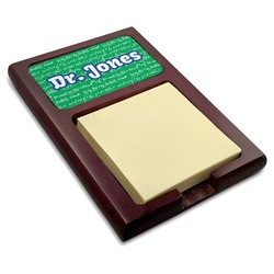 Equations Red Mahogany Sticky Note Holder (Personalized)