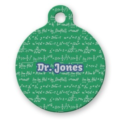 Equations Round Pet Tag (Personalized)