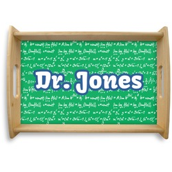 Equations Natural Wooden Tray (Personalized)