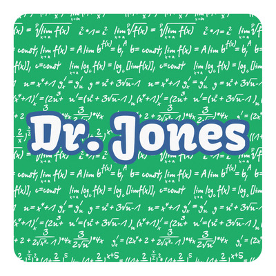 Equations Square Decal - Custom Size (Personalized)