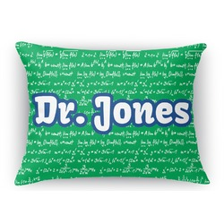 Equations Rectangular Throw Pillow Case (Personalized)