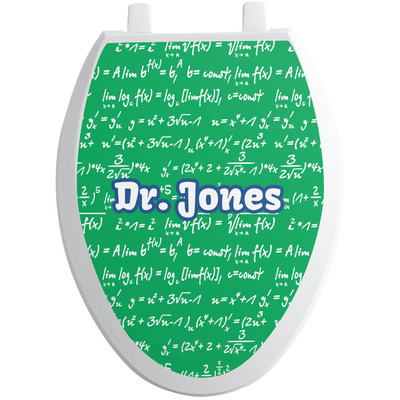 Equations Toilet Seat Decal - Elongated (Personalized)