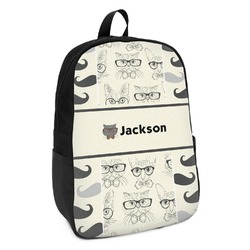 Hipster Cats & Mustache Kids Backpack (Personalized)