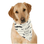 Hipster Cats & Mustache Dog Bandana Scarf w/ Name or Text