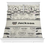 Hipster Cats & Mustache Comforter Set (Personalized)