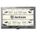 Hipster Cats & Mustache Business Card Case