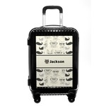 Hipster Cats & Mustache Carry On Hard Shell Suitcase (Personalized)