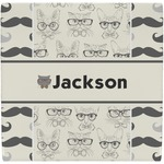 Hipster Cats & Mustache Ceramic Tile Hot Pad (Personalized)
