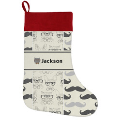 Hipster Cats & Mustache Holiday / Christmas Stocking (Personalized)