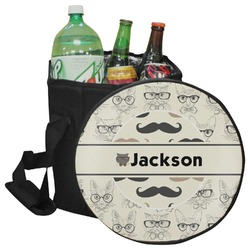 Hipster Cats & Mustache Collapsible Cooler & Seat (Personalized)