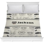 Hipster Cats & Mustache Comforter (Personalized)