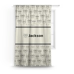 Hipster Cats & Mustache Curtain (Personalized)