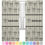 Hipster Cats & Mustache Curtains (2 Panels Per Set) (Personalized)
