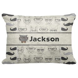 """Hipster Cats & Mustache Decorative Baby Pillowcase - 16""""x12"""" (Personalized)"""