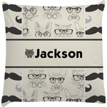 Hipster Cats & Mustache Decorative Pillow Case (Personalized)