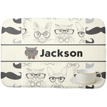 Hipster Cats & Mustache Dish Drying Mat (Personalized)