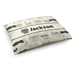 Hipster Cats & Mustache Dog Pillow Bed (Personalized)