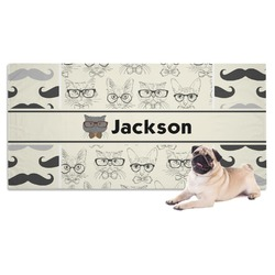 Hipster Cats & Mustache Pet Towel (Personalized)