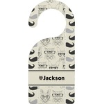 Hipster Cats & Mustache Door Hanger (Personalized)