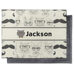 Hipster Cats & Mustache Microfiber Screen Cleaner (Personalized)
