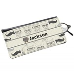 Hipster Cats & Mustache Genuine Leather Eyeglass Case (Personalized)