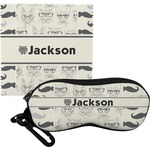 Hipster Cats & Mustache Eyeglass Case & Cloth (Personalized)