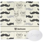 Hipster Cats & Mustache Wash Cloth (Personalized)