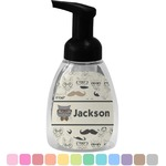 Hipster Cats & Mustache Foam Soap Dispenser (Personalized)