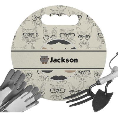 Hipster Cats & Mustache Gardening Knee Cushion (Personalized)