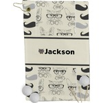 Hipster Cats & Mustache Golf Towel - Full Print (Personalized)