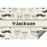 Hipster Cats & Mustache Indoor / Outdoor Rug (Personalized)